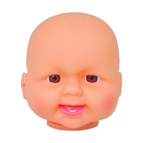 Cabeça da boneca sem cabelo 9 cm