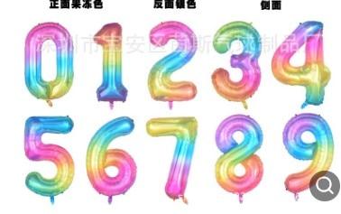 400 unids/lote 40 pulgadas oro rosa plata rosa azul negro tamaño grande número de aluminio helio globos fiesta de cumpleaños celebración decoración l