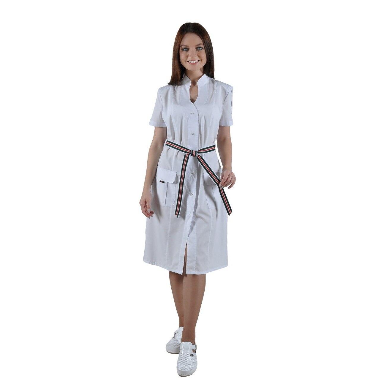 Female medical robe IVUNIFORMA Монарда White