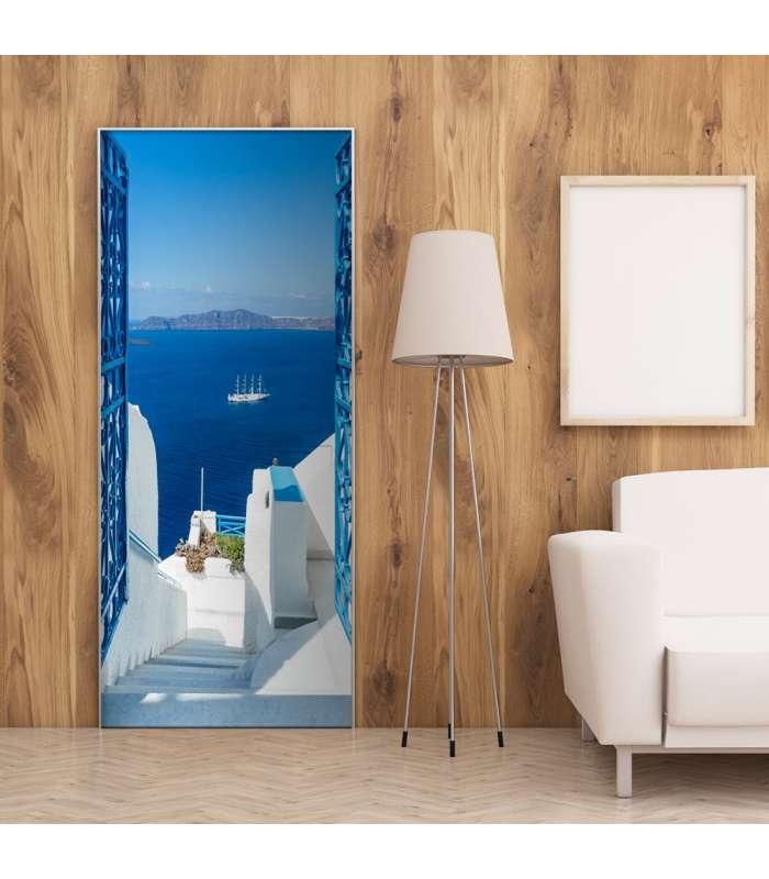 Fotomural para puerta - Holidays in Greece