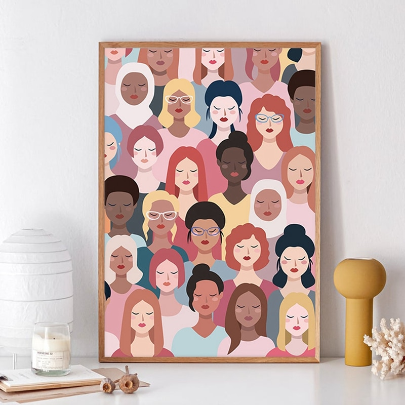 Feministische Poster Girl Power Art Prints Meisjes Gift Bevoegd Vrouwen Moderne Muur Canvas Schilderij Foto Vrouw Kamer Muur Decor
