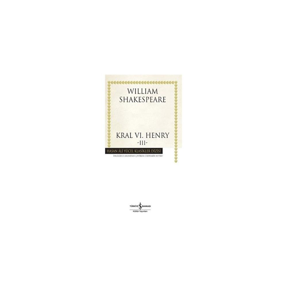 King VI. Henry -Iıı-William Shakespeare Business Bank Culture Publications
