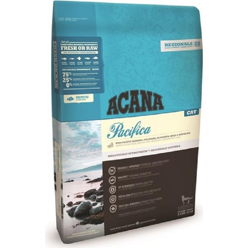 Acana Pacifica-alimento para gato adulto, sin grano, 4,5Kg, fresco o crudo, crecimiento...
