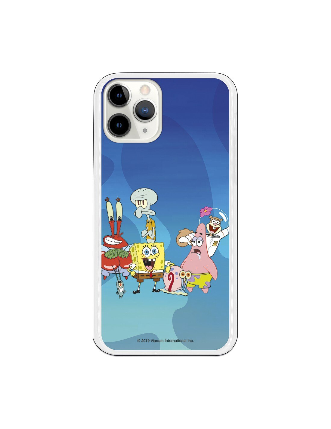 Capa para iphone 11 pro oficial nickelodeon personagens fundo marino-bob esponja