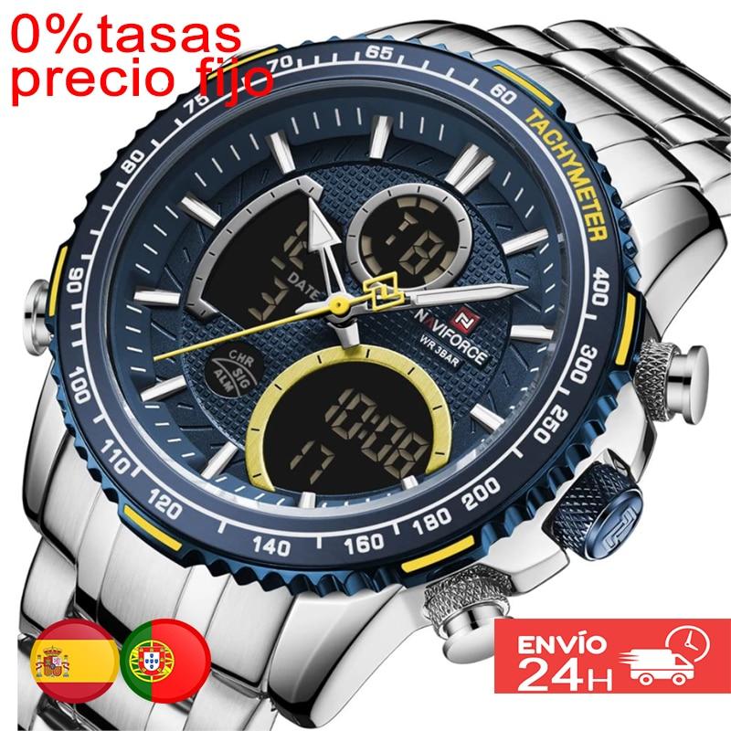 NAVIFORCE-men's luxury brand watch, men's quartz watch bracelet, with chronograph, men's watch, wrist watch