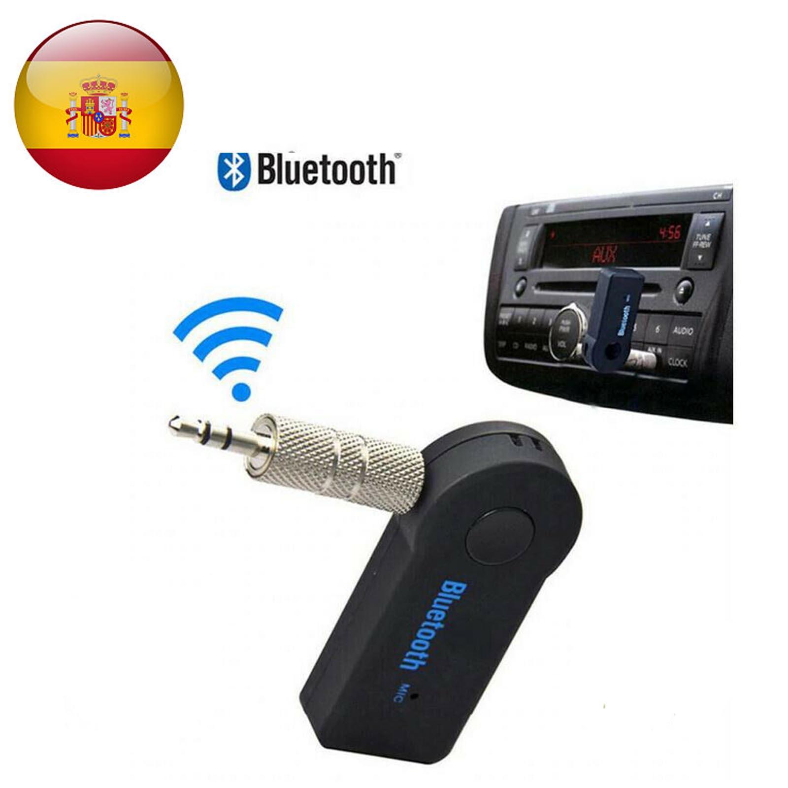 Récepteur Audio Inalámbrico Bluetooth BT 3.0 conecteur Aux Mini Jack 3.5mm Manos Libres Coche Batería Integrada Negro
