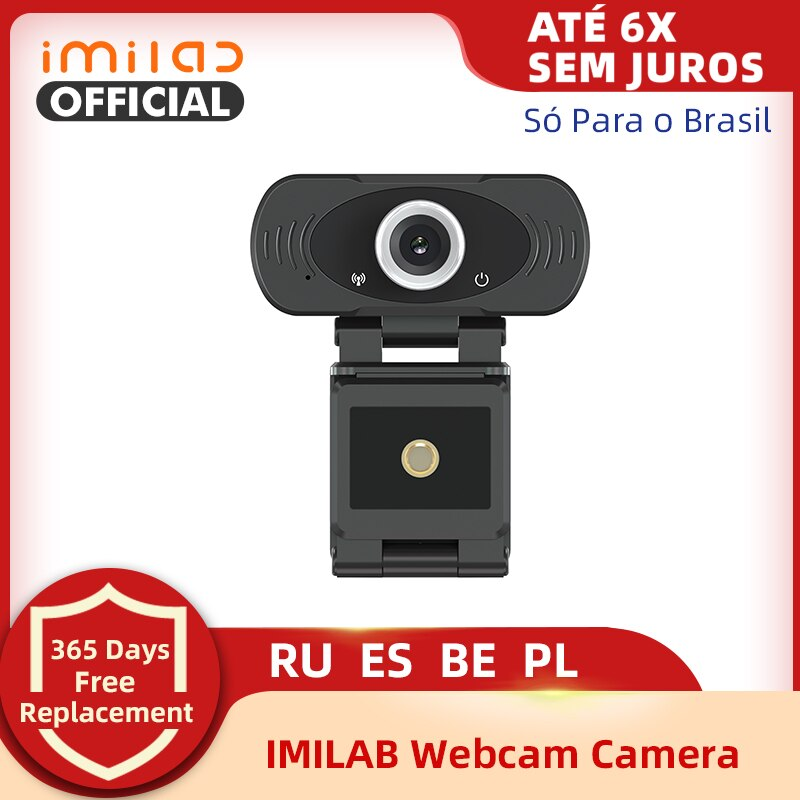 AliExpress - 1080P Webcam IMILAB 2MP With Microphone, HD USB Webcam Play And Plug Desktop Laptop Smart Tv For Streaming Video Calling Confere