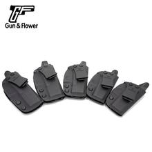 Gun & Bloem IWB Kydex Holster Verbergen Carry Enkele Clip Pistool Holster past Glock Serie-Zwart, Rechterhand