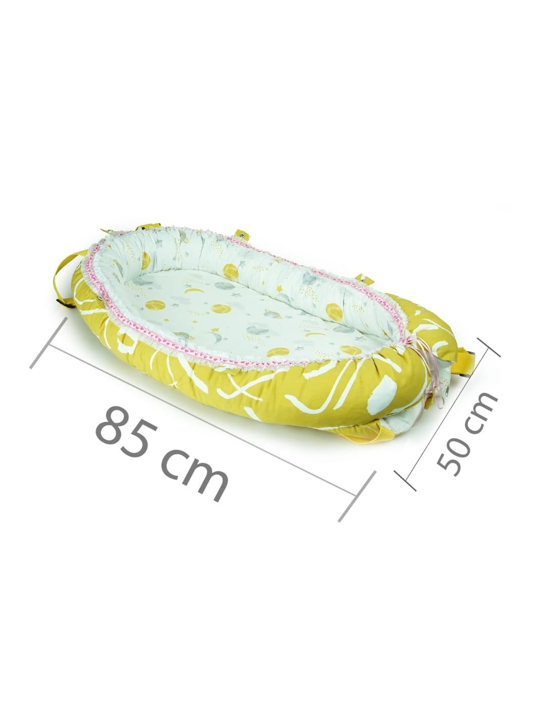 85*50 Cm Babynest Bed With Pillow Portable Crib Travel Bag Newborn Sleep Swaddle Cotton Fabric Has a Usage Range of 0-2 Years enlarge
