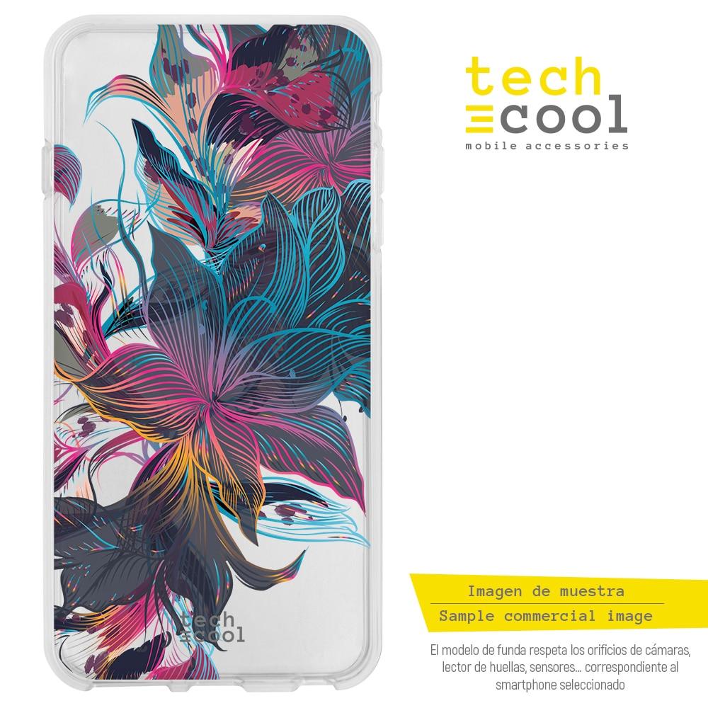 FunnyTech® Funda Silicona para Xiaomi Redmi Note 7 / Note 7 Pro l Diseño Floral vers.4