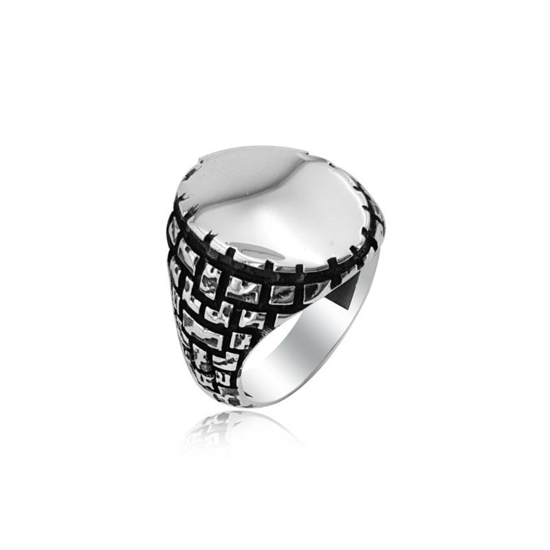 925 Silver Ottoman Ring for Men Dirillis Ertugrul Rings for Man Kayi Rings for Men