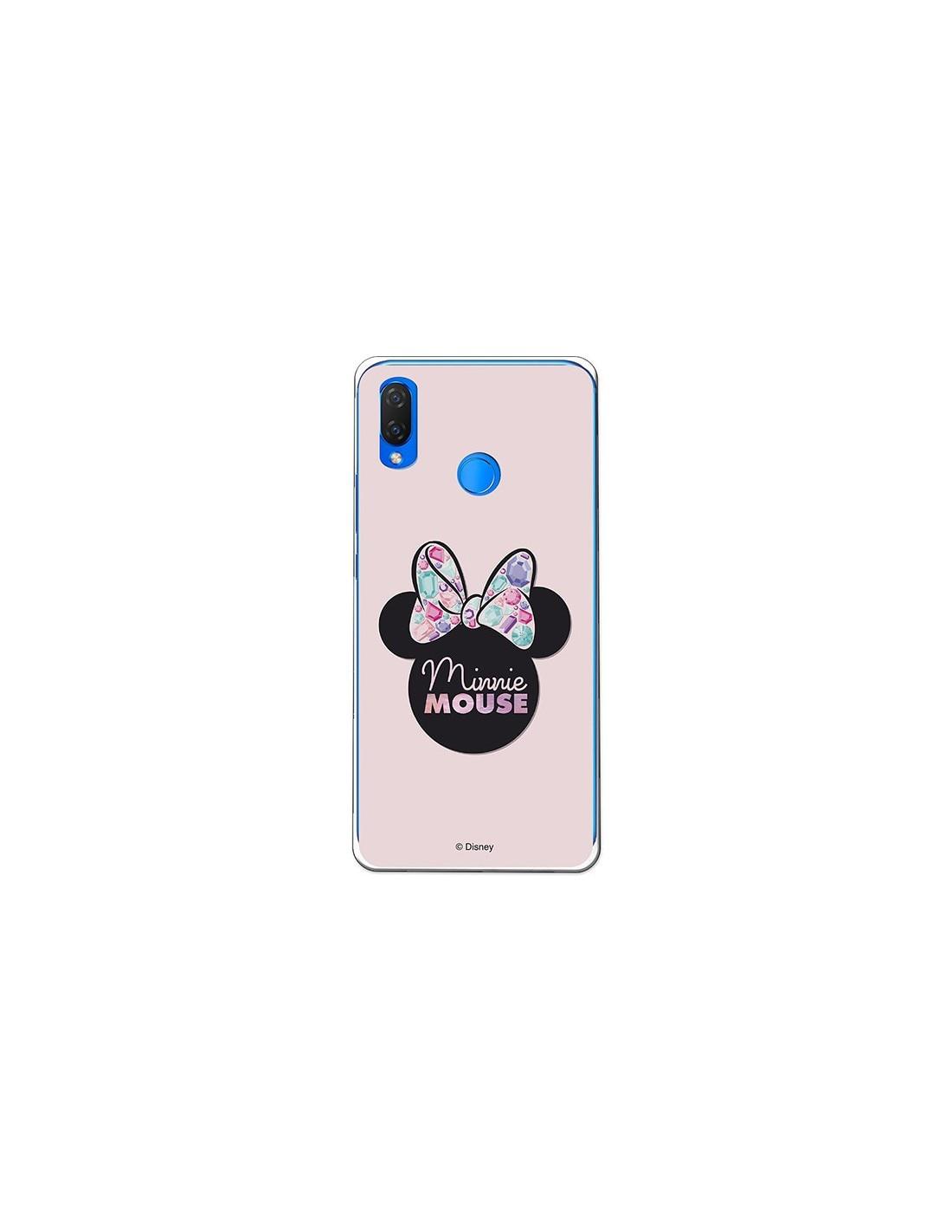 Coque officielle Disney Minnie, ombre rose Huawei P Smart Plus
