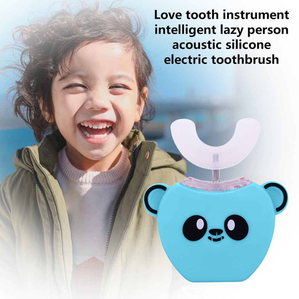 Smart Sonic Children's Electric Toothbrush Automatic U-shaped Kids Baby Toothbrush Brush For Teeth Whitening Cleaner With Music enlarge