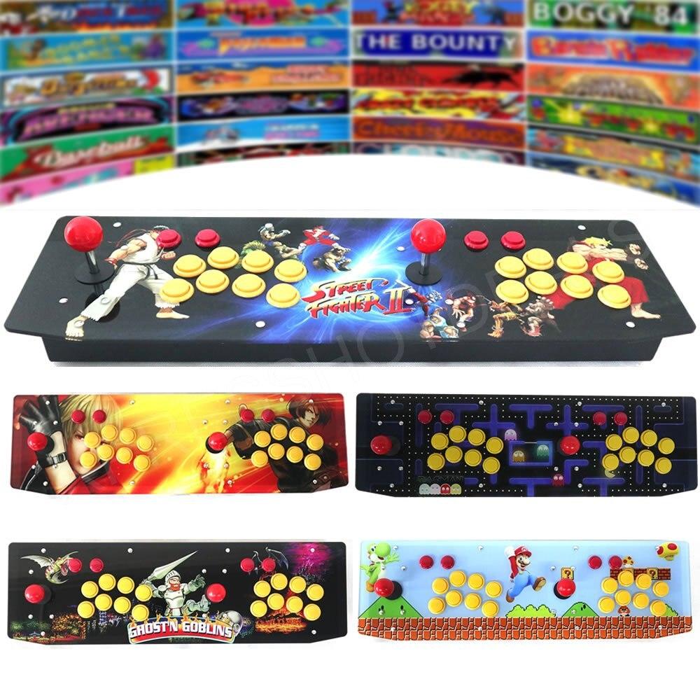 RAC-T300 Raspberry Pi 3 Model B Two Players Retro Arcade Game Console Artwork Panel Metal Case 64G