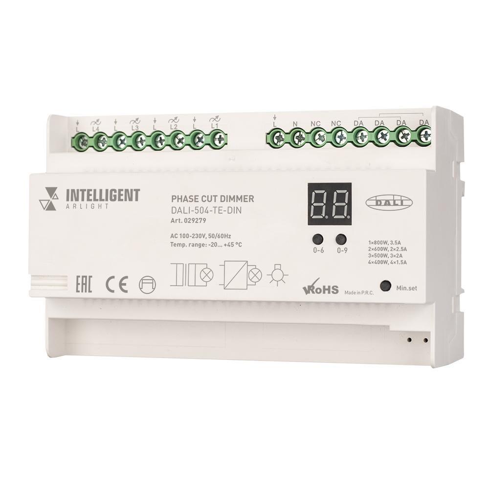 Regulador de luz inteligente Arlight 029279, dali-504-te-din (230V, 4x 2a), 1 Uds.