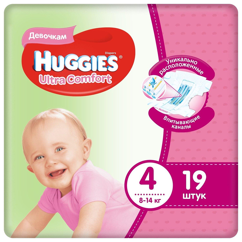 Pañales para niñas Huggies Ultra Comfort 4 8-14 kg 19 Uds