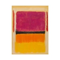 high quality 100hand painted mark rothko abstract yellow and red color oil painting on canvas modern wall art for home decor