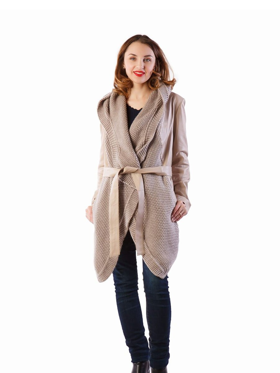 Fashion Knitwear jacket natural jacket real leather jacket warm Jacket 2021 Turkish Moda