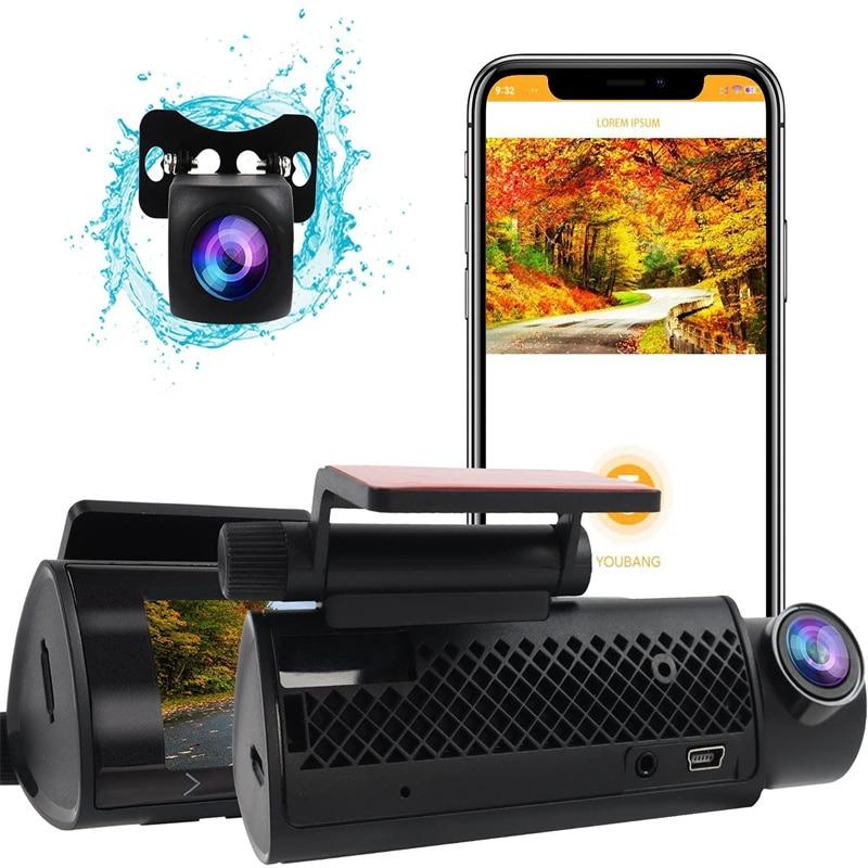 Wi-Fi Dash экшн-камера DVR (устройство цифровой записи), видеорегистратор для автомобиля, Регистраторы подключения с помощью приложения на телефо...