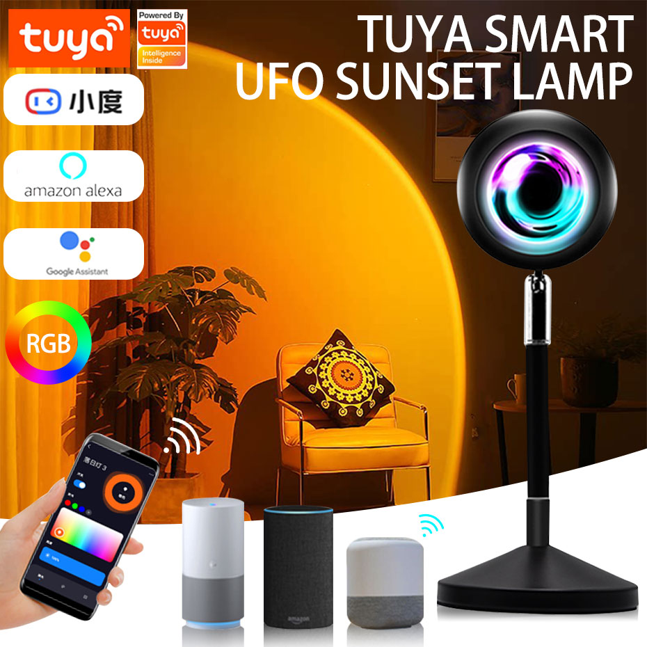 LED مصباح إسقاط Tuya واي فاي الحياة الذكية LED ضوء الليل RGB اللون للتغيير للديكور المنزل جو الإضاءة