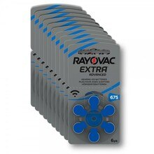 S pour batterie daide auditive 60 PC/1 boîte RAYOVAC EXTRA-A675 Zinc air batterie 1,45, piles daide auditive s