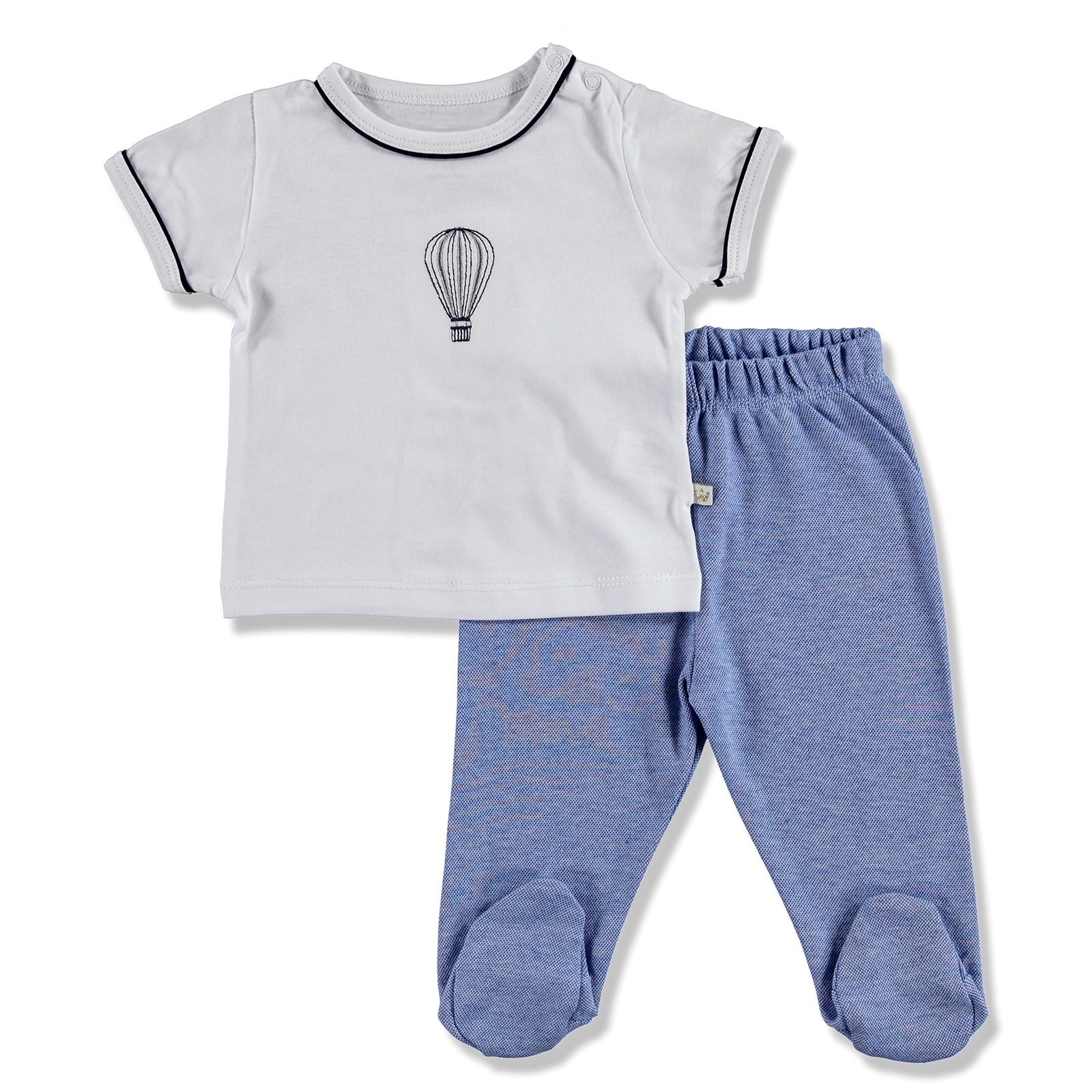 ebebek For My Baby Summer Boy Maris Supreme Snapsuit Pant 2 pcs Set
