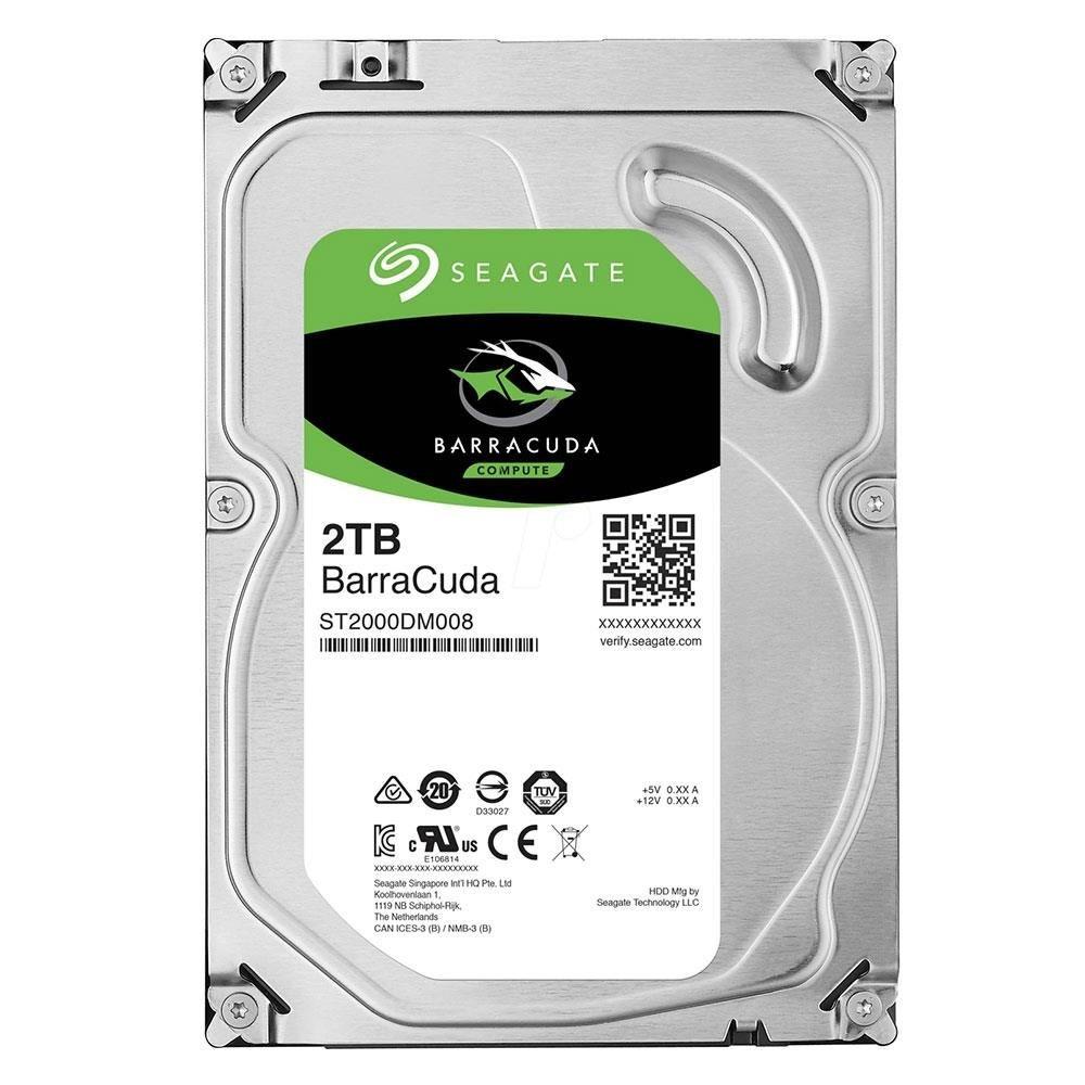 Seagate BarraCuda 2TB 7200RPM 256MB Cache Hard Drive Fast Storage Unit
