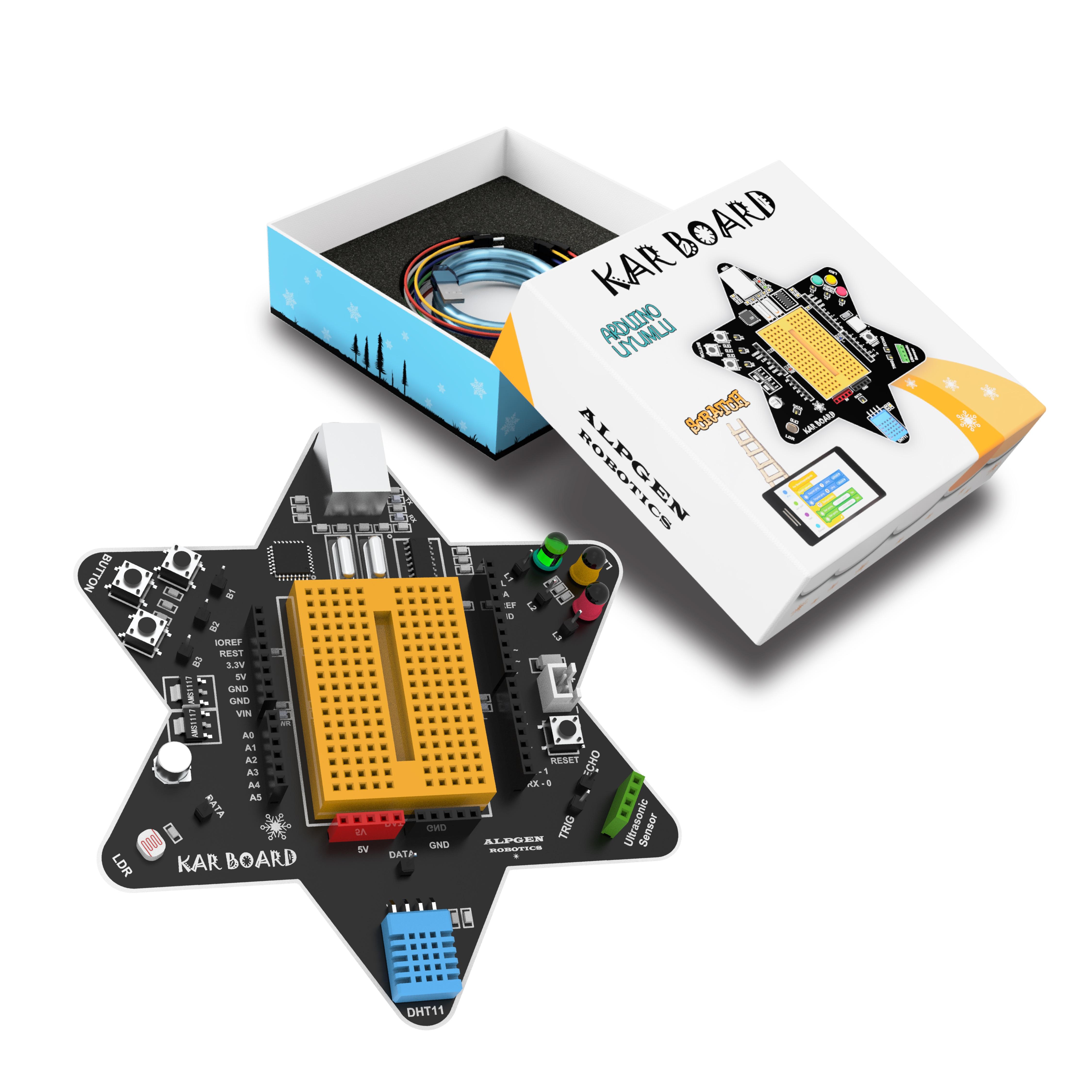 KarBoard Arduino Uno на основе робота робот в наборе для детей-лего для обучения, сборный Atmega328 Arduino UNO основе mBlock кодирования