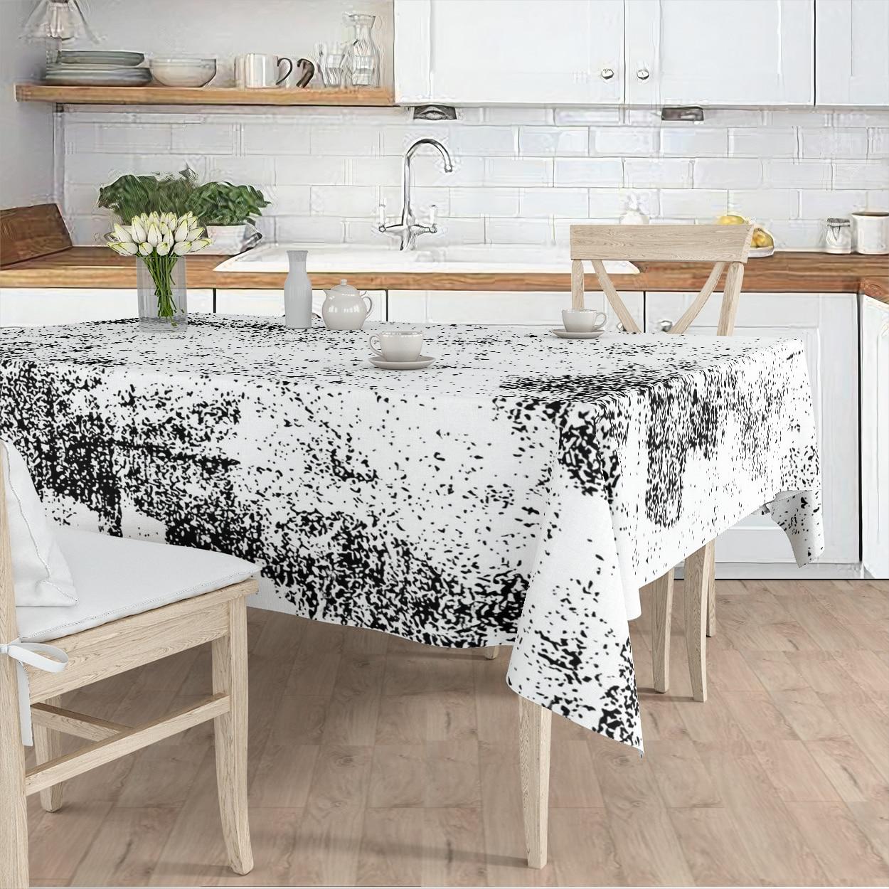مفرش المائدة غرفة المعيشة المطبخ أبيض أسود قديم العرقية منقوشة مايكرو غطاء من القماش عداء نمط شحن مجاني
