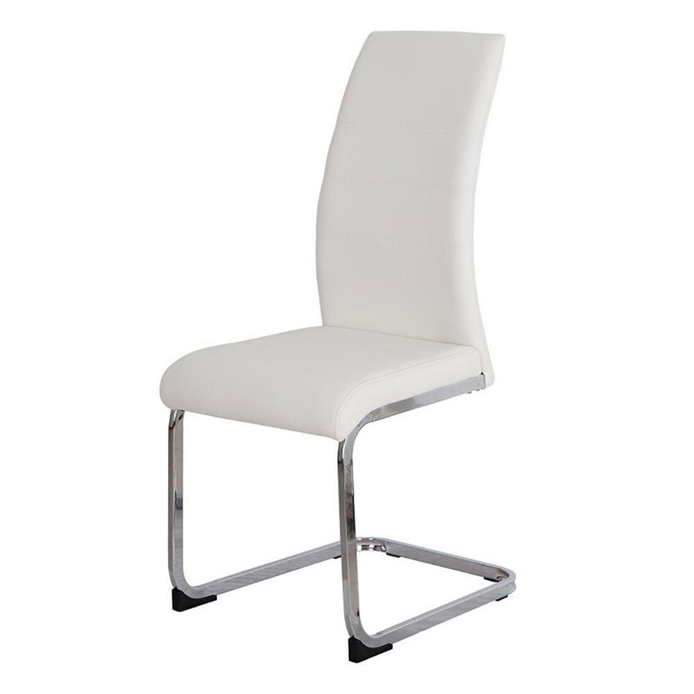 4 Sillas KRN biurko ergonomiczne, chromowane odważne, wykończenia biały nowoczesny design darmowa wysyłka z hiszpanii akord z dowolnym salonem jadalnia