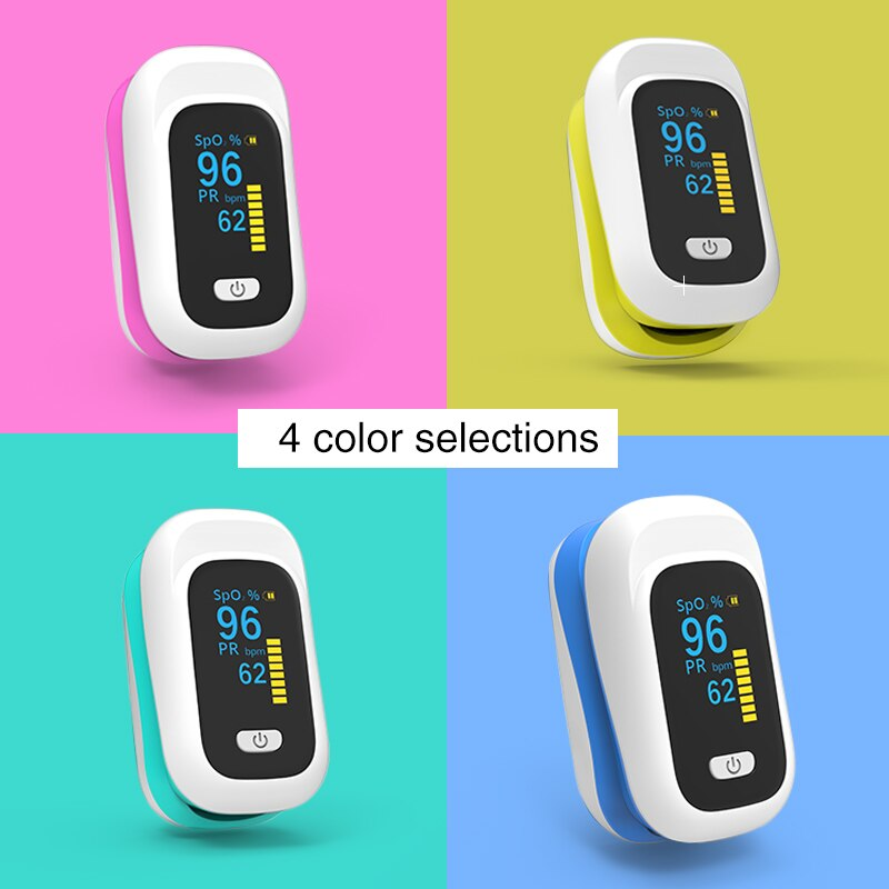 Professional Finger Oximeter SpO2 Blood Oxygen Saturation Meter Household Pulse Oximeter PR Heart Rate Monitor Health Care