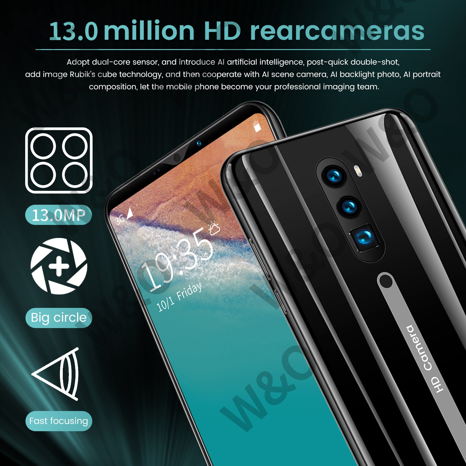 Radml9 Smartphone Android 10 4g Smart Phones Android 5g Cellphones Cell Phones Unlocked New Mobile Phones 5.8inch HD Full Screen enlarge