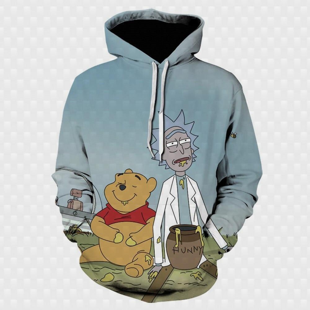 2021 Oversized hoodies Funny anime character 3D HD printing fashion cartoon character Summer/autumn Hoodie Boys/girls Sweatshirt