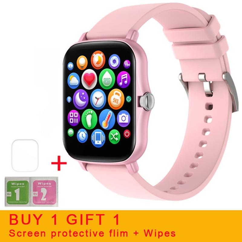 LISM 2021 Touch Screen Smart Watch Women IPX7 Waterproof Heart Rate Fitness Tracker Sport Smartwatch