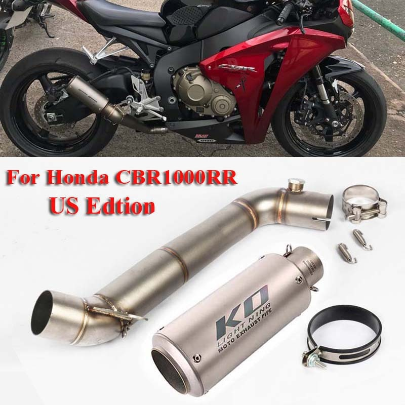 CBR1000RR Motorcycle Exhaust Escape Muffler Pipe Modified Connector Section Middle Pipe for Honda CBR1000RR 2008-2011 2013-2016