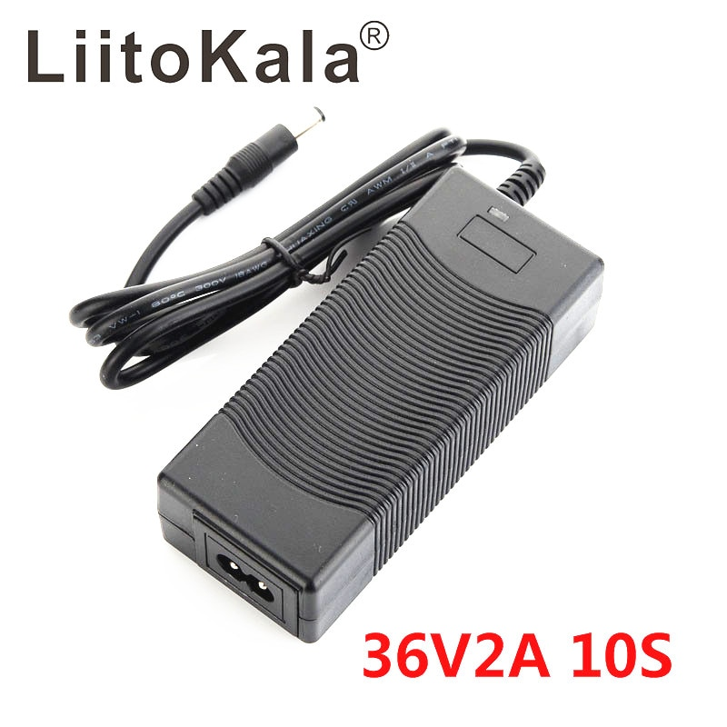 LiitoKala 10S 36V2A charger 42V 2A Charger 100-240V Input Lithium Li-ion Charger For 36V Electric Bi