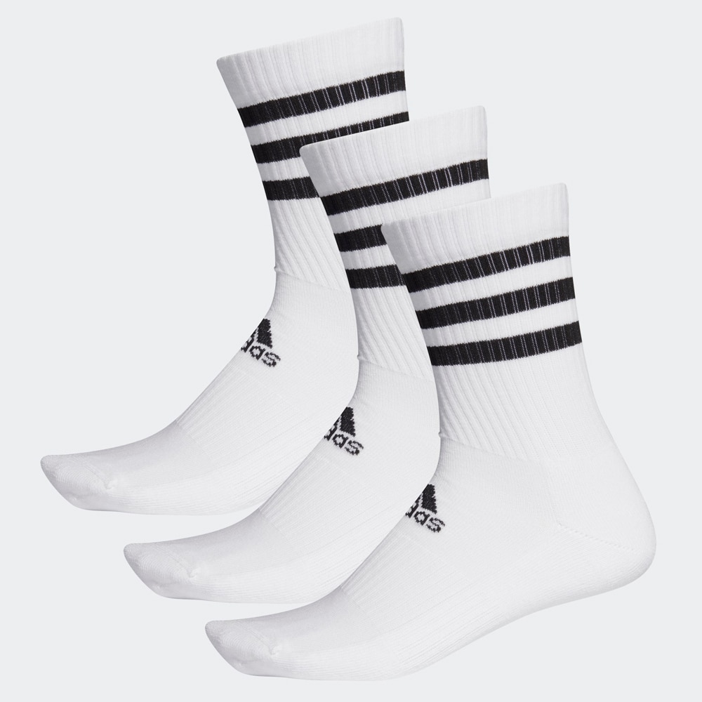 Adidas-classic socks-3 pairs white or black socks 3 bands, Sport-classic long, authentic sports style