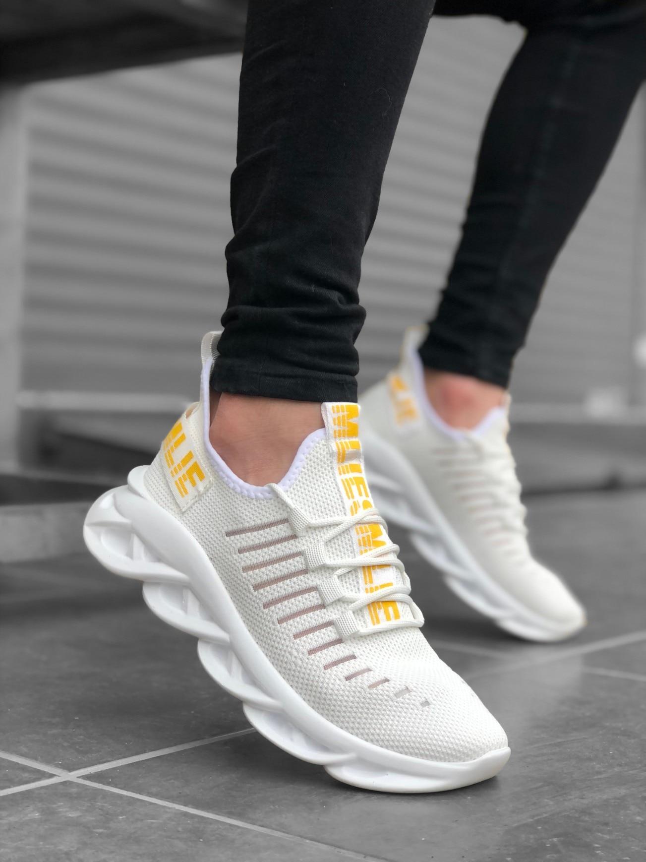 Babba BA0602 فانتوم عالية وحيد نمط أحذية رياضية كاجوال حذاء رجالي مريح تشغيل جلد شارع للجنسين في الهواء الطلق مرنة الركض