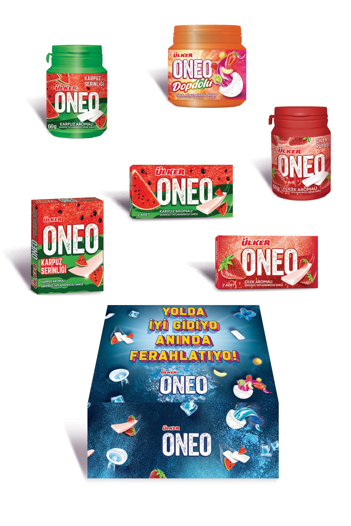 Ülker Oneo is' Good on the Road, Instant Refreshment '' Fruit Package    FREE SHİPPİNG
