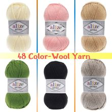 Wool Knitted Yarn-(5 BALL) 48 Color Options 220 Meters(100gr) hand Knitting-Alize Extra-Amigurumi-Ac