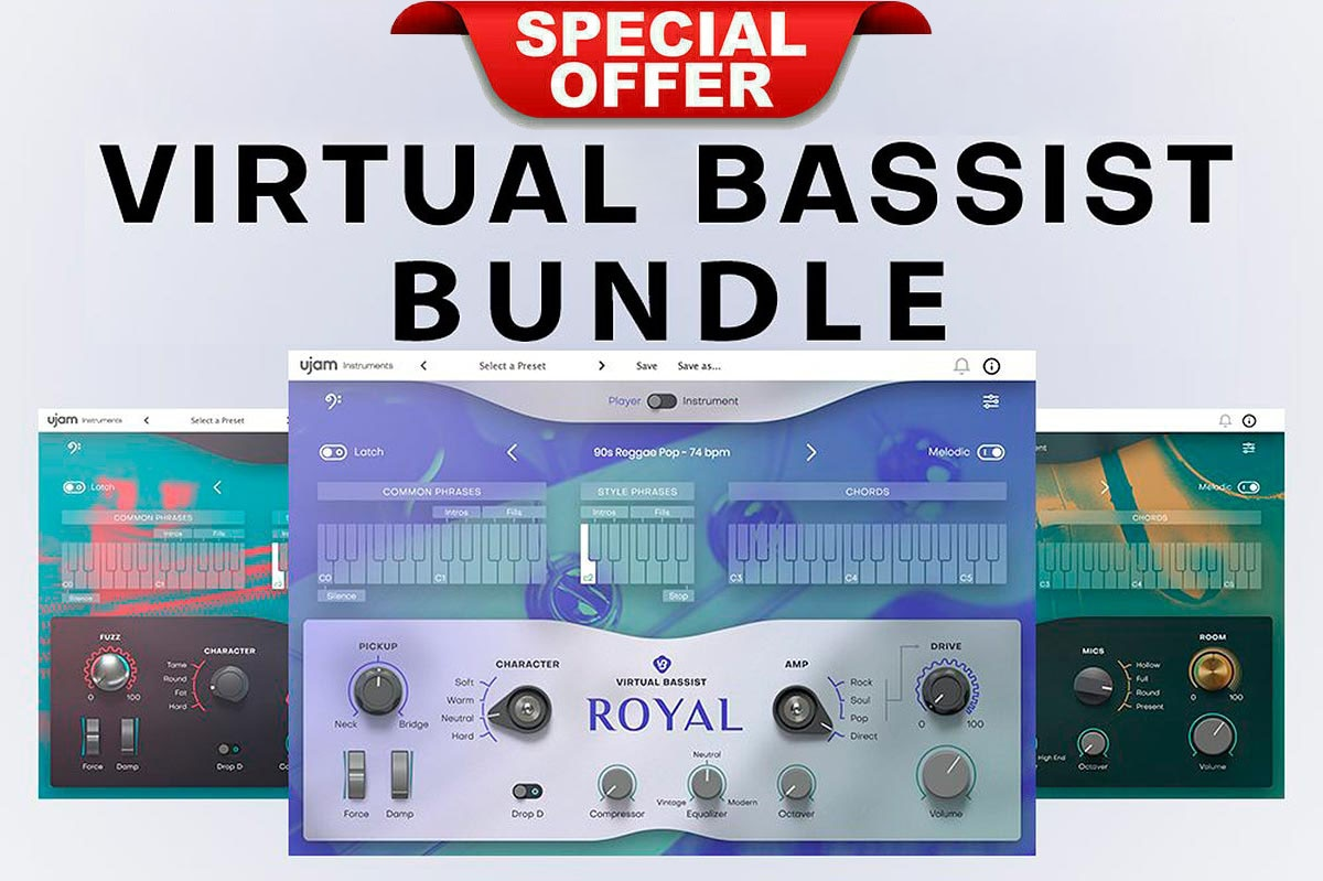 uJAM Virtual Bassist Bundle AAX-VSTi For WIN & MAC