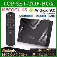 Amlogic S905X3 Смарт Android 9,0 ТВ коробка DVB-S2 DVB-T2 DVB-C 2 Гб Оперативная память 16 Гб Встроенная память 2,4G 5G Wi-Fi Bluetooth 4 к HD декодер каналов кабельного телев...