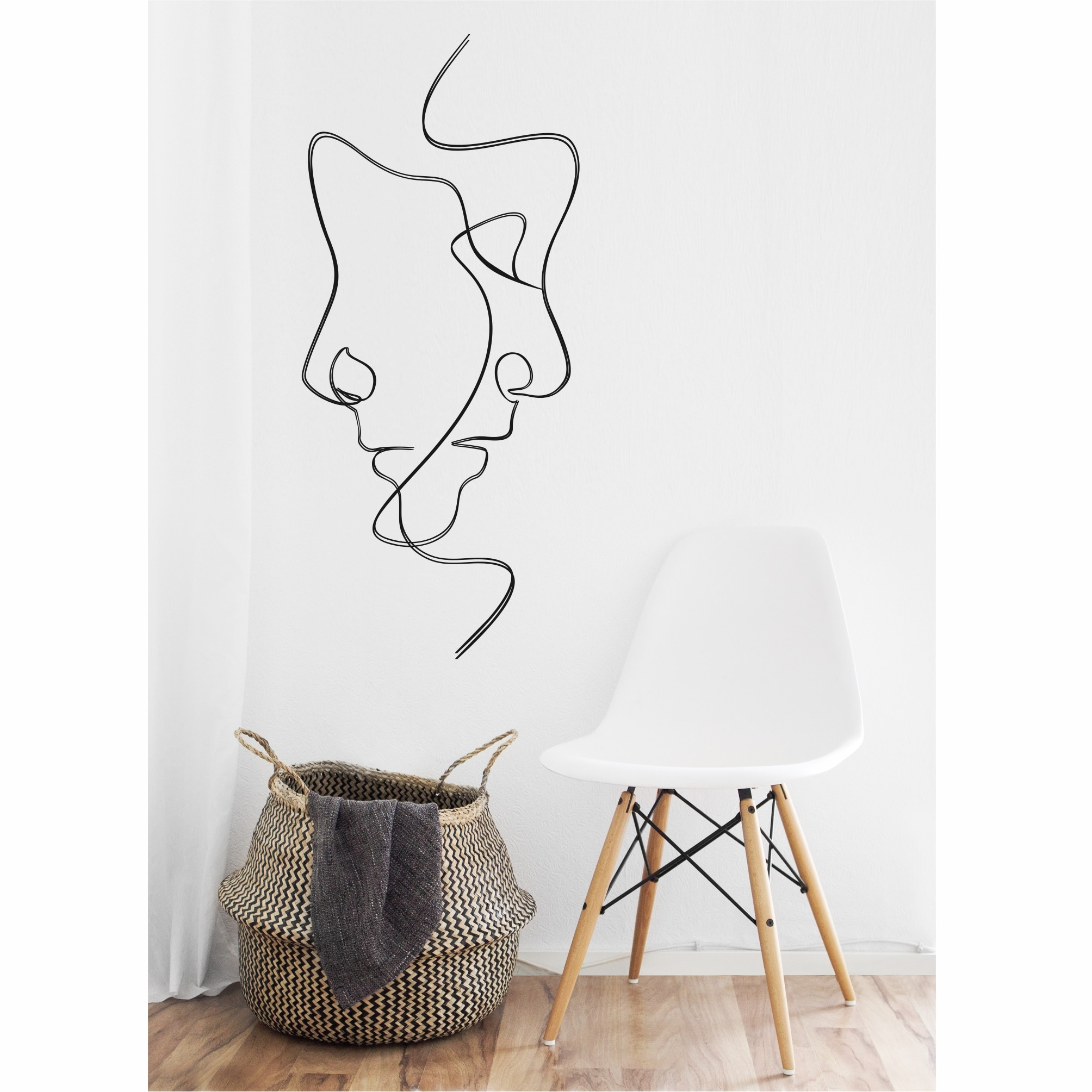 Arte de pared de Metal, arte de pared de línea, arte de pared de Metal, decoración de interiores, colgantes de pared, arte de pared de Metal, arte minimalista, 2 caras
