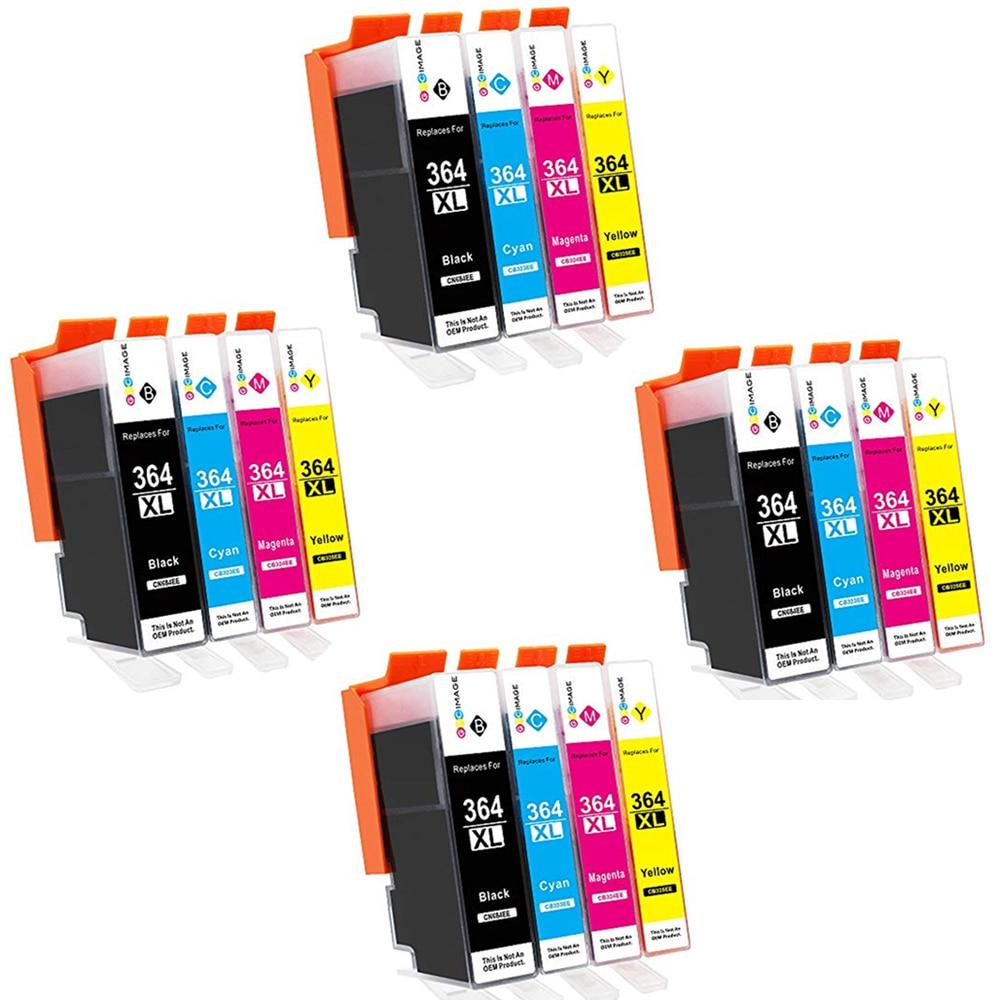 16 Cartuchos de tinta Modelo HP364xl HP 364xl 364xl Compatible con impresoras PhotoSmart C 309g C 309hC 310a/c C 410b