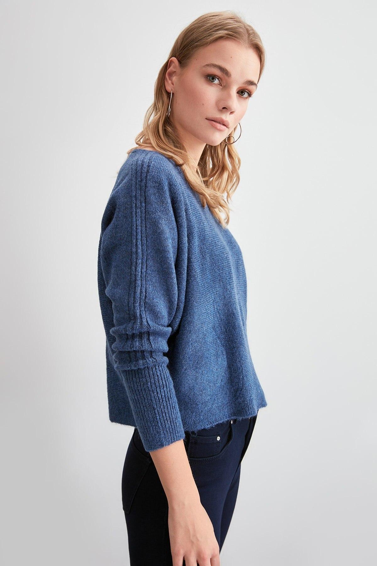 Trendyol detalle de bolsillo suéter de punto TWOAW20KZ1077