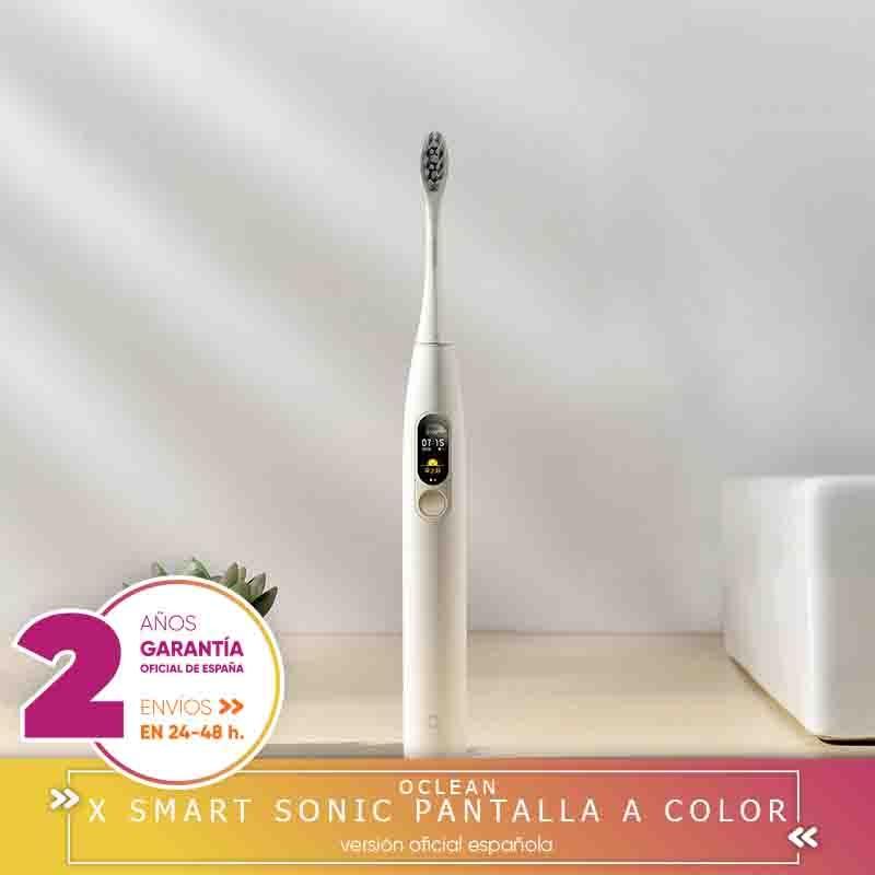 -Plaza Garantía- OCLEAN X CEPILLO ELÉCTRICO RECARGABLE Smart Sonic Cepillo de dientes Pantalla a color Blanqueamiento