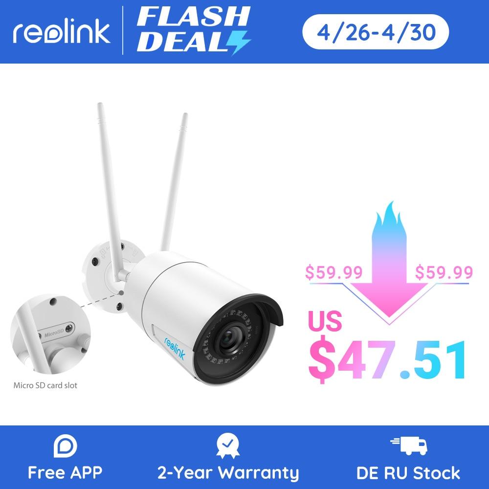 aliexpress - Reolink 4MP wireless ip camera wifi 2.4G/5Ghz Onvif infrared night vision waterproof outdoor indoor home  surveillance RLC-410W
