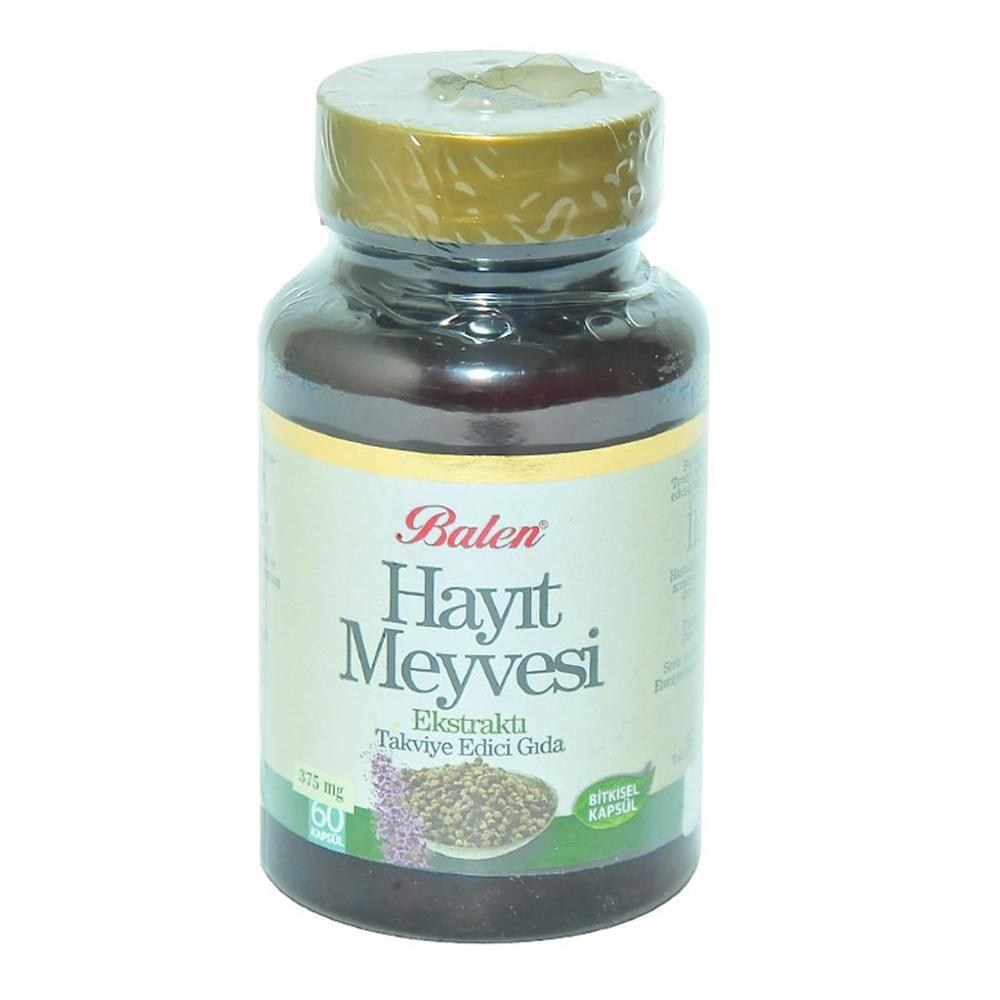 Baya de árbol casto, 375 Mg, 60 cápsulas, cápsula de extracto de fruta Balen Hayit, suplemento alimenticio Vitex agnus-castus, Hecho en Turquía