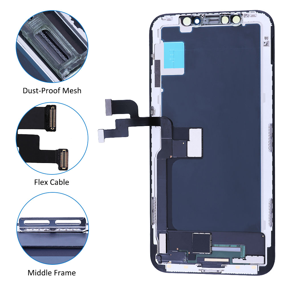 Elekworld Grade For iphone X OLED XS MAX XR TFT With 3D Touch Digitizer Assembly 11 Pro Max LCD Screen Replacement Display enlarge