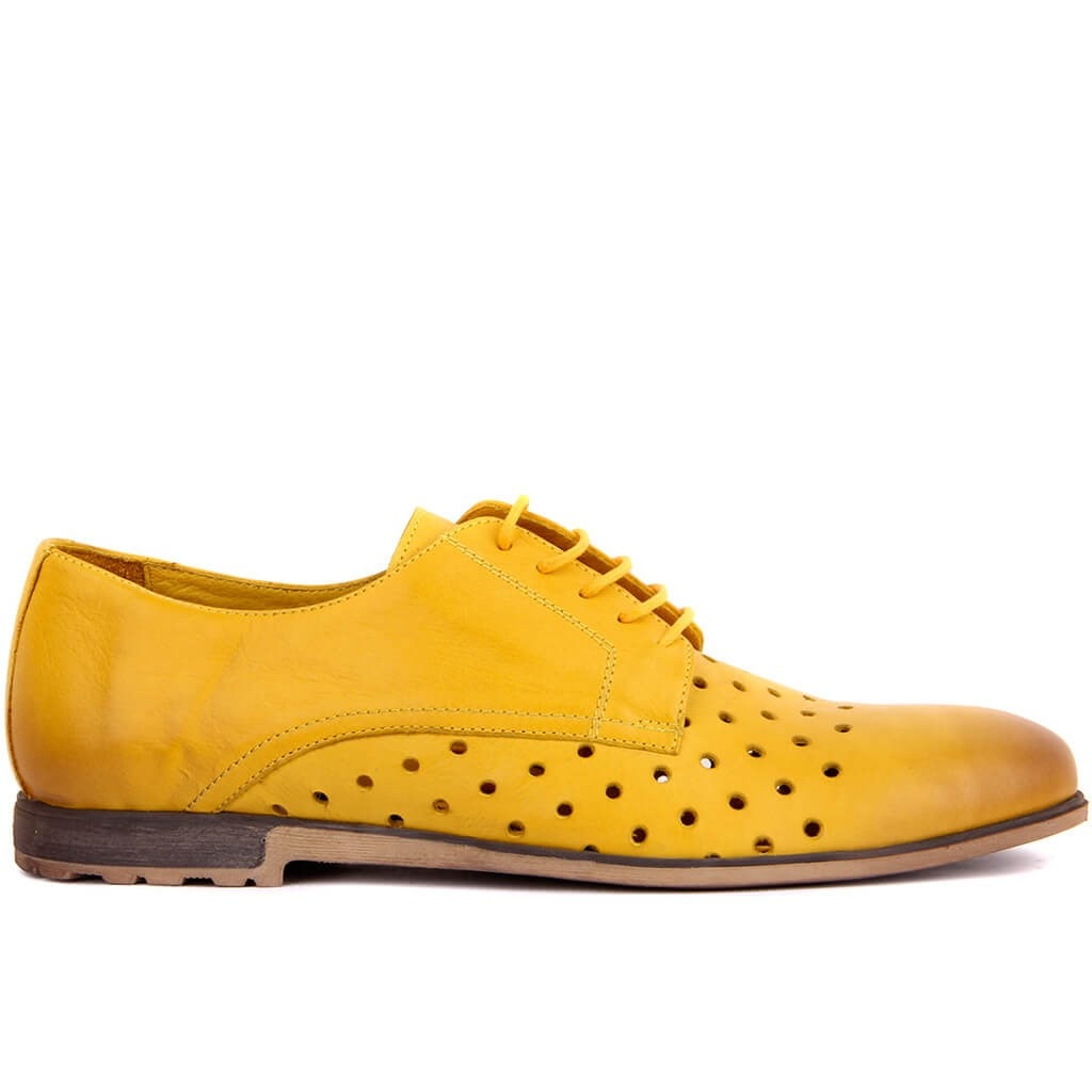 Sail Lakers-حذاء جلد أصلي للرجال ، مسامي ، غير رسمي ، تدليك